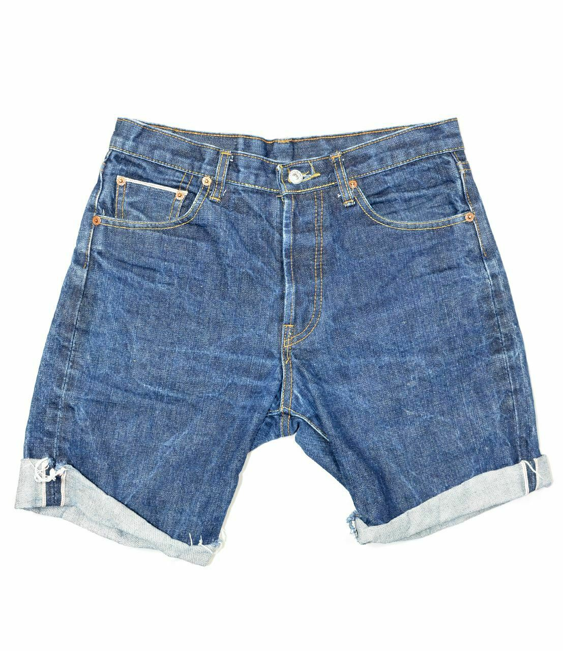 Made in USA Levis 501 Selvedge Shorts - image 1