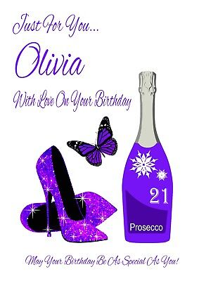 Funny Personalised PROSECCO Birthday Card 18th 21st 30th 40th 50th FREEPOST