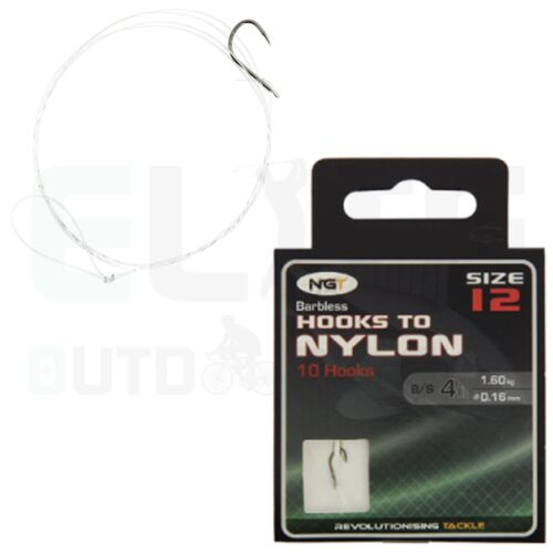 1 Pack of 20 Size 8 Barbless Eyed Carp Hooks