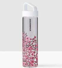NEW Starbucks 2017 CHERRY BLOSSOMS Sakura  Glass Water Bottle - 18.5 fl oz