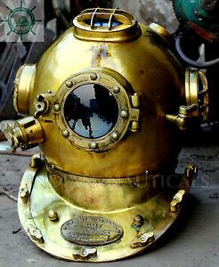 Scuba US Navy Vintage Dive Helmet Mark V Antique Diving Divers Helmet Full  Size