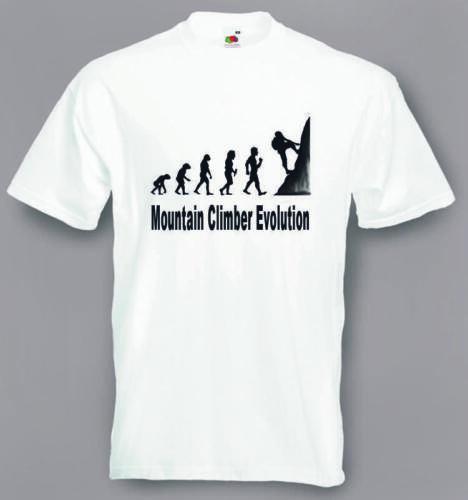 shirt größen S//M 2XXL Evolution Zur Bergsteiger T-shirt Lustig Klettern T
