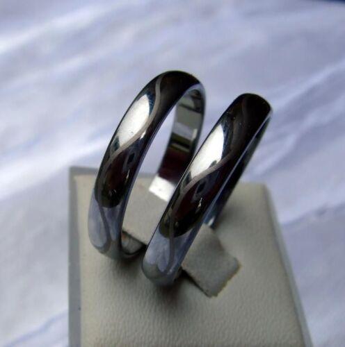 3,5 mm de ancho-laser cut ola-Titan Hart Wolfram//Tungsten Carbide Smal anillo