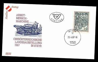 Austria Austria 1987 Industrialized Society Fdc #c2692