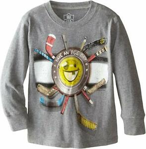 New super cute Wes & Willy Ice Day Hokey Fan's Tee Top Charcoal Grey boy's 5y