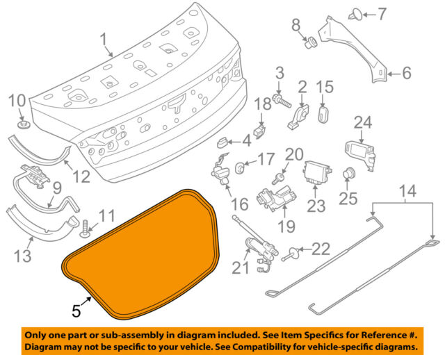Lincoln FORD OEM 02-06 LS Trunk Lid-Weatherstrip Seal 1W4Z5443720AA