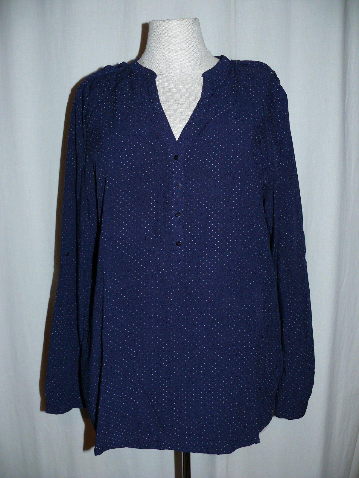 Esprit Fashionable Slip-Over Blouse Blouse Shirt Blouse Dots 38 Dark bluee