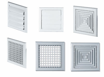 Exterior Wall Grilles with Gravity Shutter Louvered 4'' Air Vent Grille 100mm