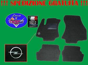TAPPETINI-tappeti-Opel-CORSA-serie-D-dal-2006-con-ricami-e-battitacco-in-gomma