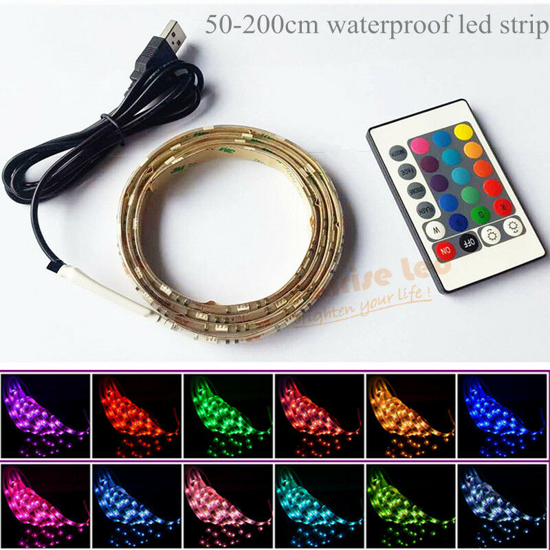 Mood Light Led Strip Usb Remote Control Multicolor Tv Lcd