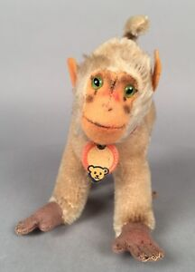 Vintage-Steiff-Babboon-Coco-Monkey-1310-00-5-034-Tall-1953-1967