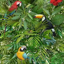 Tropicale Giungla Pappagalli Carta Da Parati Toucan Uccellino Verde