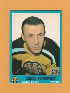 1962-63-NHL-Topps-19-Andre-Pronovost-NrMt