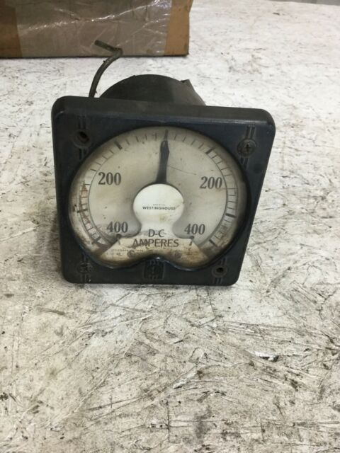 Westinghouse DC Amperes Meter 400-0-400 203A
