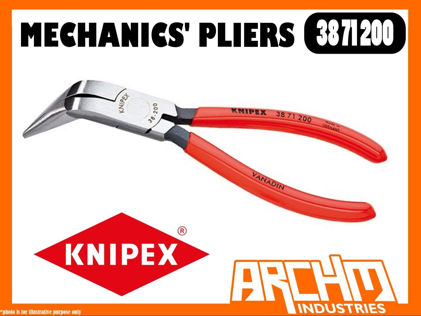 KNIPEX 3871200 - MECHANICS' PLIERS - 200MM GRIPPING HIGH BENDING STRENGTH STEEL