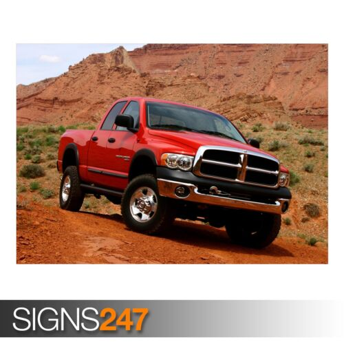 DODGE Ram AB822 Voiture Poster-Photo Poster print ART A0 A1 A2 A3 A4