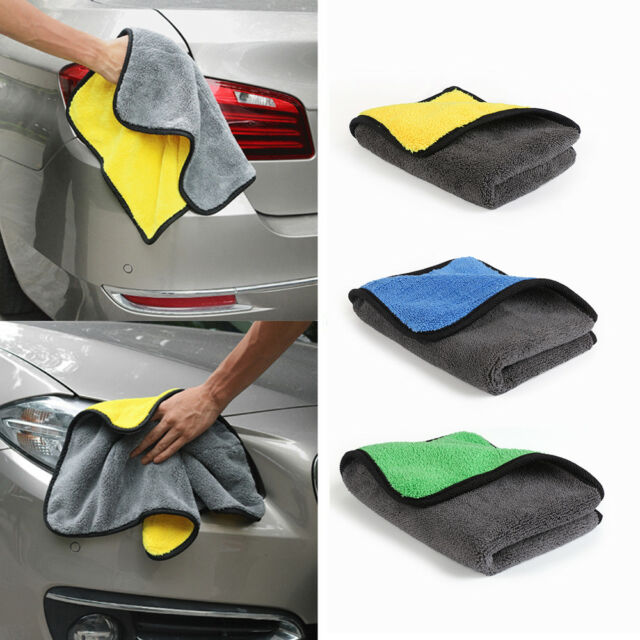 30*40cm Thick Plush Microfiber Car Cleaning Cloths Towel Tool Absorbent Soft