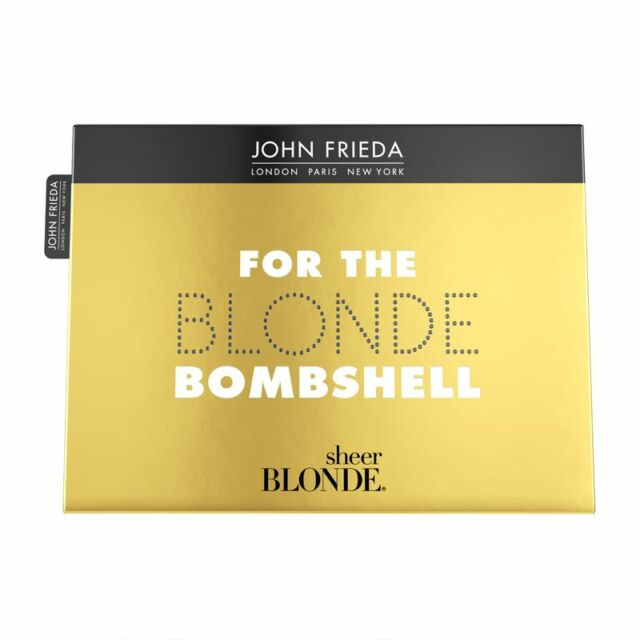 John Frieda Sheer Blonde Bombshell Shampoo,Conditioner,Treatment,Spray Gift Set