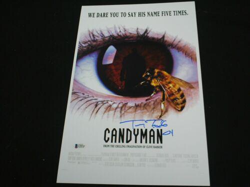 TONY TODD Signed CANDYMAN 11x17 Movie Poster Autograph BECKETT BAS COA