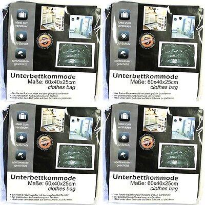 4 Stück Unterbett Kommode Unterbettkommode Unterbett Kommode 60x40x25 Cm Schwarz Shrink-Proof Home & Garden