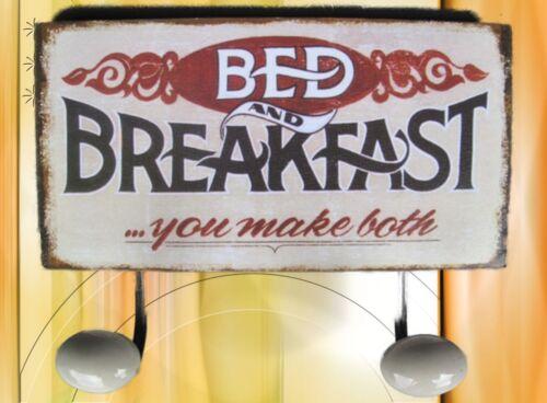 Vestuario gancho de muro bed /& break casi chapa escudo regalo publicidad hotel Vintage