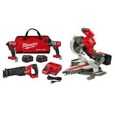 M18 Fuel 18 Volt Lithium Ion Brushless Cordless Kit 10 In Dual Bevel Miter Saw