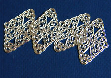 20 pcs diamond shape filigree connector 46x30mm available 4 colors