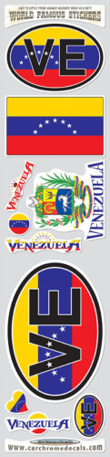 Venezuela 10 stickers set flag Scottish decal bumper stiker car auto bike laptop