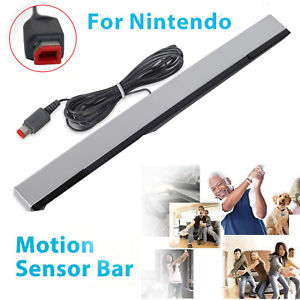 Wired-Remote-Motion-Sensor-Bar-IR-Infrared-Ray-Inductor-for-Nintendo-Wii-Wii-U