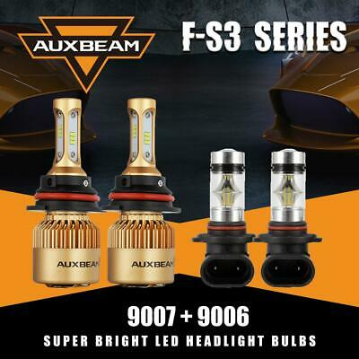Auxbeam 9007 LED Headlight Bulb for 02-05 Dodge Ram 1500 2500 3500 High Low Beam