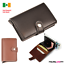 thumbnail 1 - Leather-ID-Credit-Card-Holder-RFID-Wallet-Pop-Up-Cash-Holder-Purse-Slider-Metal