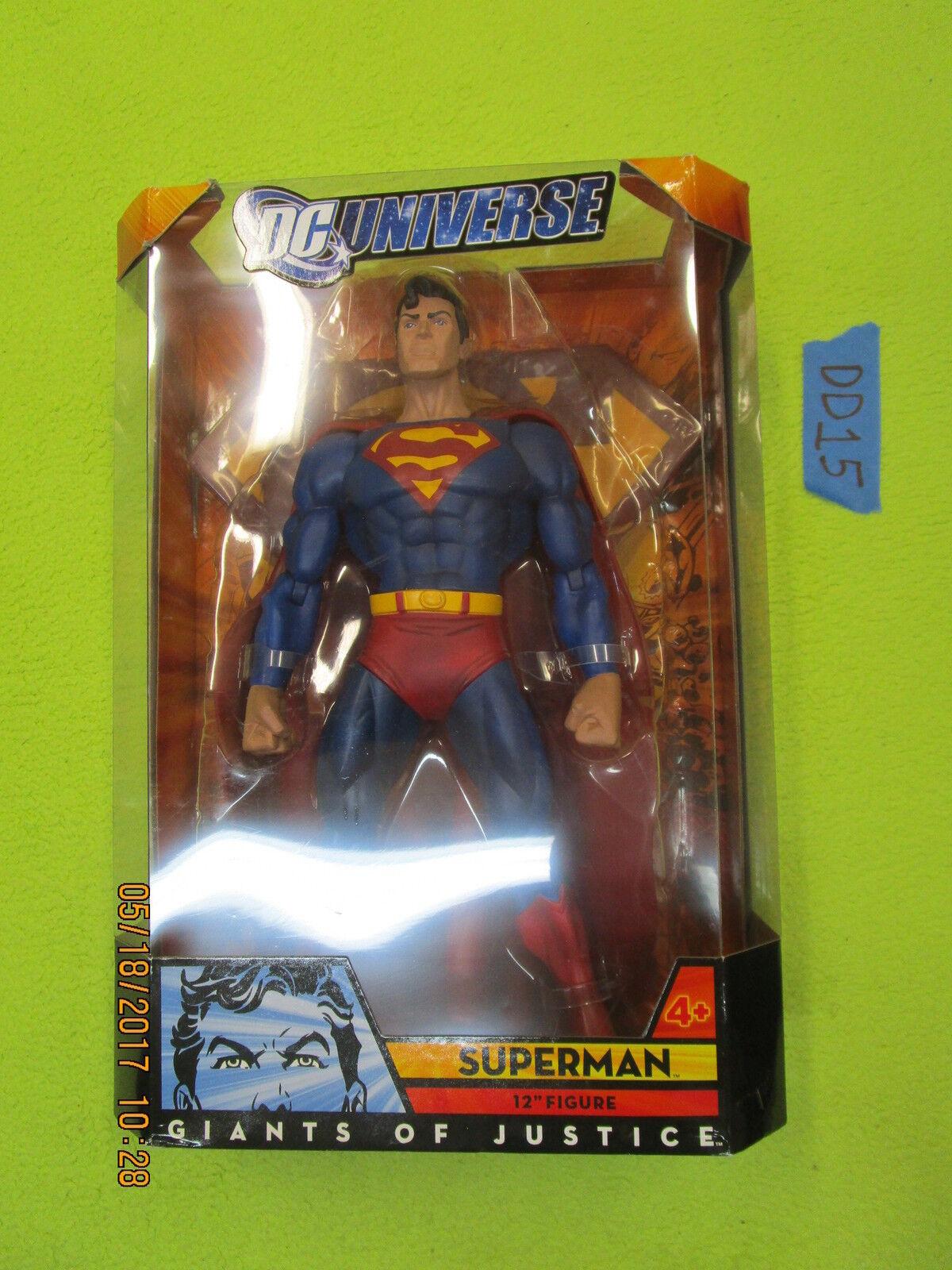 DD15_5 DC Universe Classics Lot GIANTS OF JUSTICE SUPERMAN 12  FIGURE MISB dcuc
