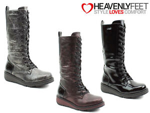 Ladies-Tall-Winter-Boots-Heavenly-Feet-Memory-Foam-Zip-Up-Comfy-Stylish-Shoes