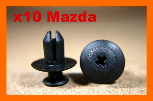 Para Mazda 10 Panel de Arco de Rueda Forro Recortar Clips Sujetador de protección contra salpicaduras de barro