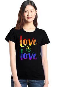 Love-is-Love-Women-039-s-T-Shirt-Gay-Pride-Rainbow-Equal-Rights-LGBT-Shirts