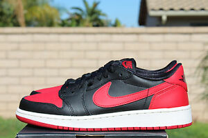 nike air jordan 1 retro low black varsity red 6s