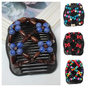 Trend-African-Hairclip-Haarklammer-Butterfly-Holzdesign-Haarkamm-Blueten-Design