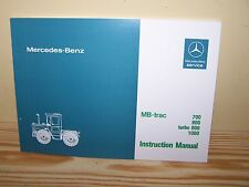 MB-trac 700 800 900 1000 Factory Operating Instruction Manual - NEW