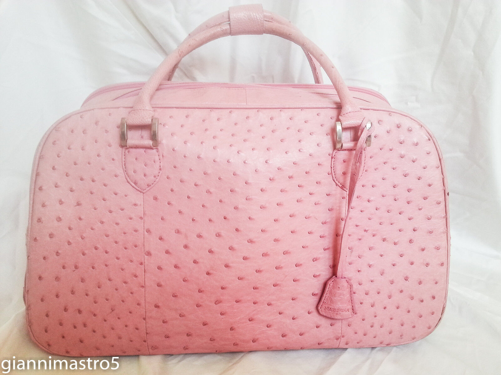 Real Ostrich Travel Bag Trolley