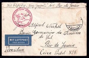 Germany-1930-Graf-Zeppelin-flown-to-Rio-de-Janeiro-stamp-removed-WS10830