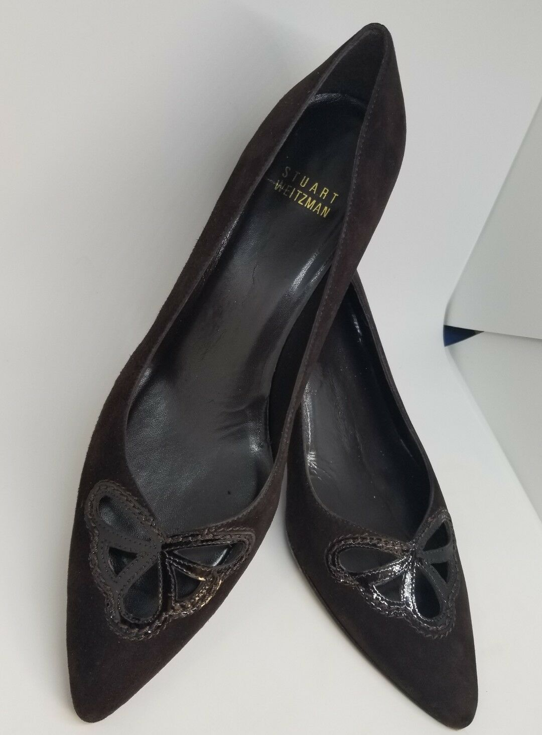 STUART WEITZMAN Braun Suede Heel Classic heels Schuhes  98217 Sz 8M