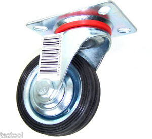 12-pcs-3-034-Swivel-Caster-Wheels-Top-Base-with-Steel-Ball-Bearings-Rubber-Tire