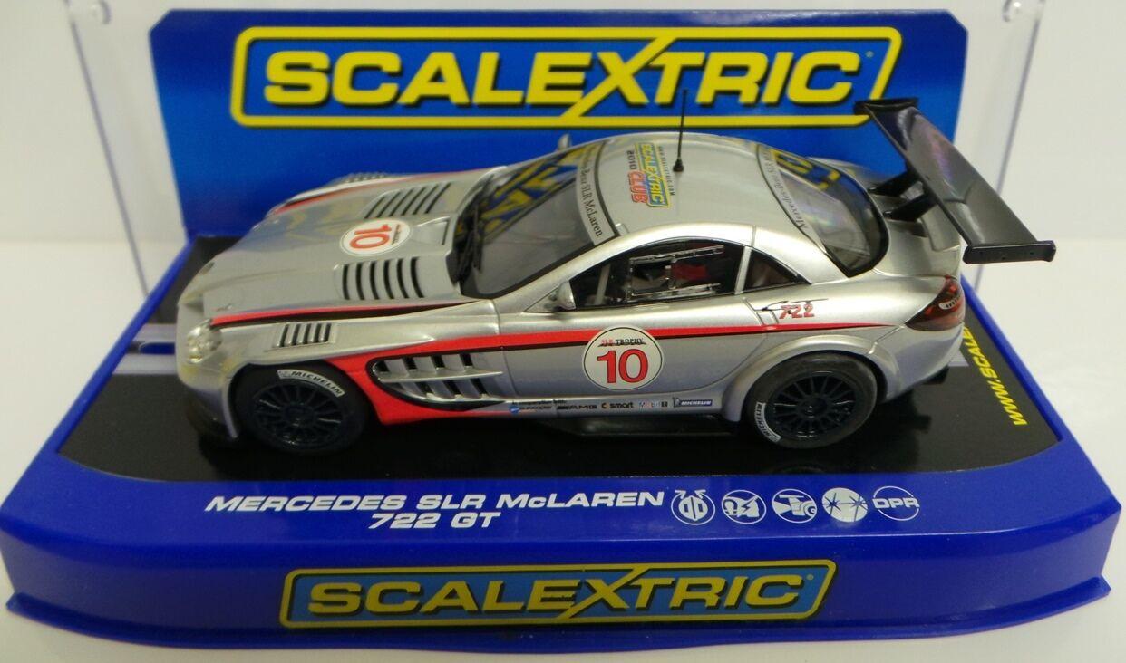 CARS   MERCEDES SLR MCLAREN 722 GT SCALEXTRIC CAR MADE IN 2010