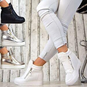 luxus designer wedges sneaker keilabsatz damen schuhe wei. Black Bedroom Furniture Sets. Home Design Ideas