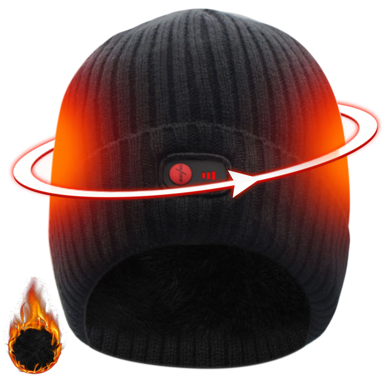 7.4V Battery Heated 3 levels control electric heating warm Hat  for cold Winter  outlet factory shop