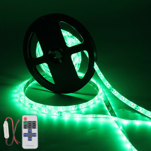 5m//16ft Waterproof LED Strip Light Remote 12V For Boat Truck Car SUV RV Blue
