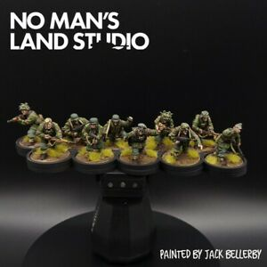 Pro-Painted-28mm-Bolt-Action-Waffen-ss-squad-10-Ww2-Warlord-Games