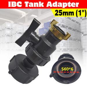 IBC Anschluss Adapter Tank Anschluss S60x6 Regenwassertank Wassertank Zubehör