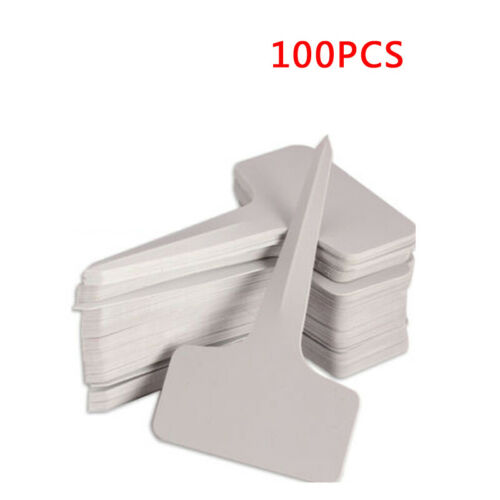6x10cm Plastic Plant T-type Tags Markers Nursery Garden Labels 100X Gray New