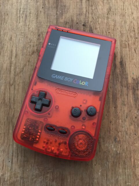 Nintendo GameBoy Color - Refurbished Colour Game Boy Handheld Clear Red Crimson